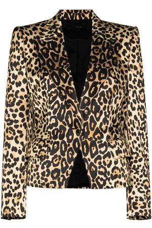 Tom Ford Leopard-print single-breasted blazer