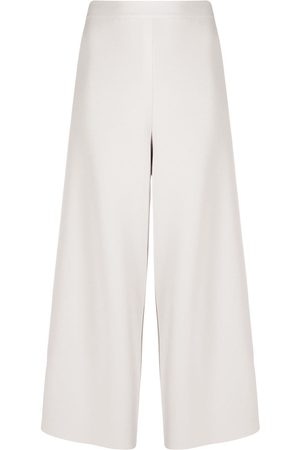 Stella McCartney Women Culottes - Loose culotte with cut-out - Neutrals