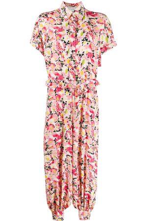 Stella McCartney Women Jumpsuits - Floral print short-sleeve jumpsuit
