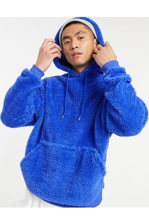 ASOS Oversized hoodie in bright teddy borg