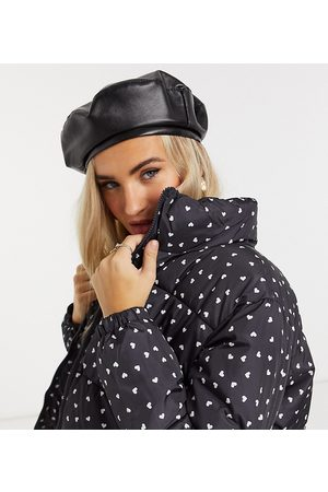 Wednesday's Girl Padded jacket in ditsy heart print