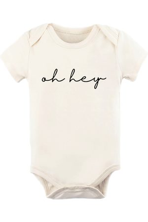 Tenth & Pine Infant Girl's Oh Hey Short Sleeve Bodysuit