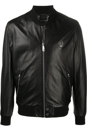 Philipp Plein Skull-plaque bomber jacket