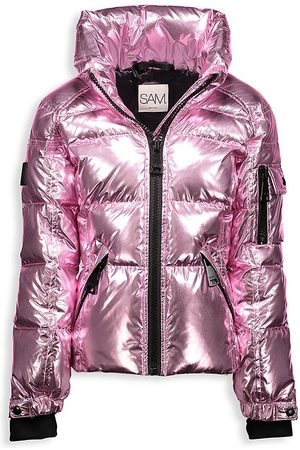 SAM. Girl's Freestyle Metallic Down Puffer Jacket - - Size 8