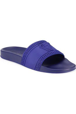 VERSACE Men's Medusa Cardinal Pool Slides - - Size 43 (10) Sandals