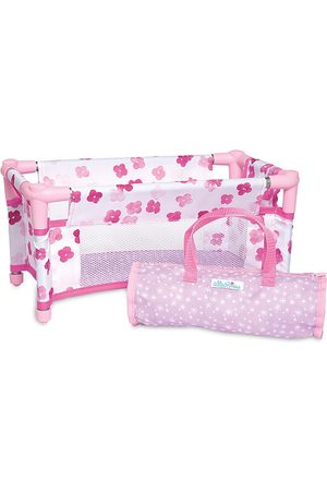 Manhattan Toy Baby Stella Take Along Baby Doll Crib Accessory Set for 12 and 15 Soft Dolls - Ages 1+