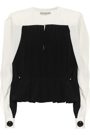 Givenchy Silk-crêpe top