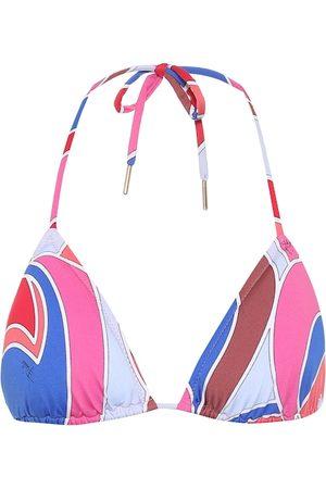 Emilio Pucci Printed triangle bikini top