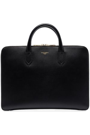 Dolce & Gabbana Logo-embossed leather briefcase
