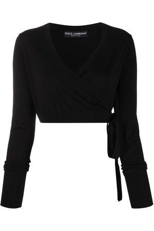 Dolce & Gabbana Cropped wrap cardigan