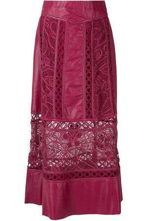 MARTHA MEDEIROS Dona leather midi skirt