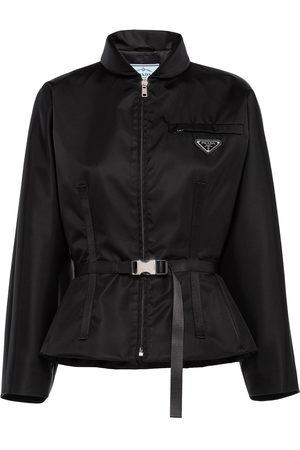 Prada Logo-plaque belted jacket