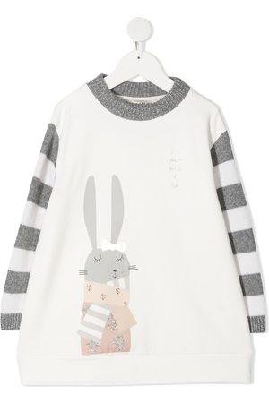 Simonetta Stripe-print sweatshirt dress
