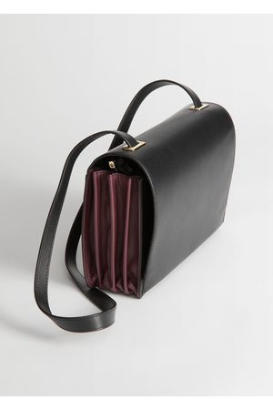 & OTHER STORIES Duo Tone Leather Crossbody Bag