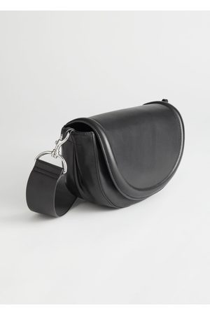 & OTHER STORIES Half Moon Leather Crossbody Bag