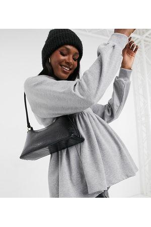 ASOS ASOS DESIGN Maternity smock hoodie in marl-Grey