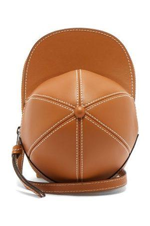 J.W.Anderson Cap Midi Leather Cross-body Bag - Womens - Tan