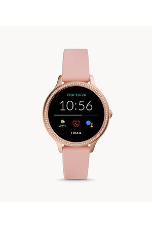 Womens Fossil Women's Gen 5E Smartwatch Blush Silicone