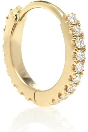 Maria Tash Eternity 18kt single hoop earring with diamonds