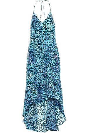 ANNA KOSTUROVA Exclusive to Mytheresa – Leopard-print silk asymmetric dress