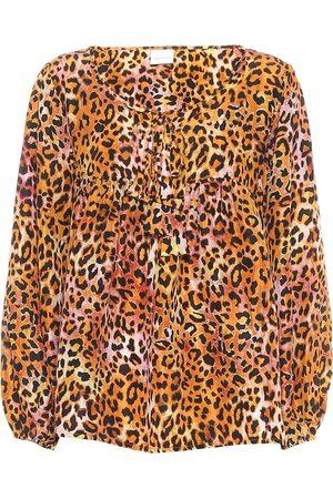 ANNA KOSTUROVA Exclusive to Mytheresa – Leopard-print silk blouse