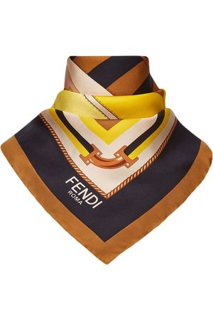 Fendi Bag-print logo silk scarf