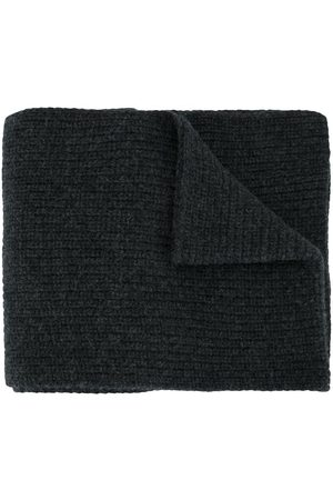 Stone Island Men Scarves - Knitted wool scarf - Grey