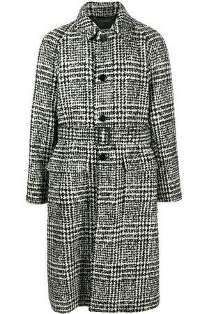Dolce & Gabbana Check-pattern mid-length coat