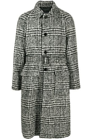 Dolce & Gabbana Check-pattern mid-length coat