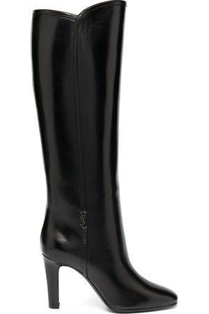 Saint Laurent Jane monogram leather boots