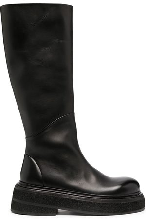 MARSÈLL Women Thigh High Boots - Chunky-sole knee-length boots