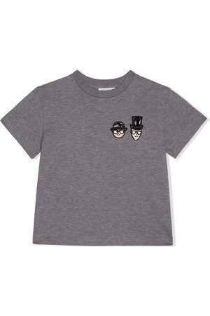 Dolce & Gabbana Jersey t-shirt with dg family hat - Grey