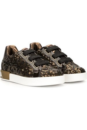 Dolce & Gabbana Portofino sequin-embellished sneakers