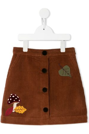 Dolce & Gabbana Patch-detail corduroy skirt