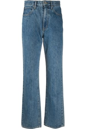 SLVRLAKE Women High Waisted - High-rise straight-leg jeans
