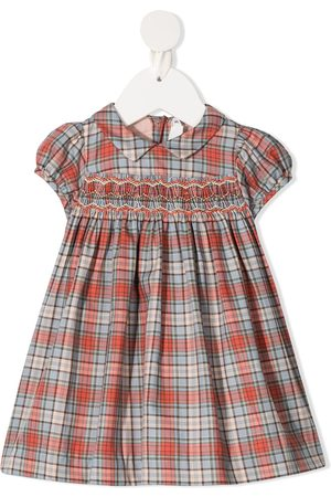 BONPOINT Smocked tartan print dress