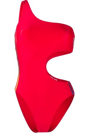 adidas Trefoil cutout swimsuit