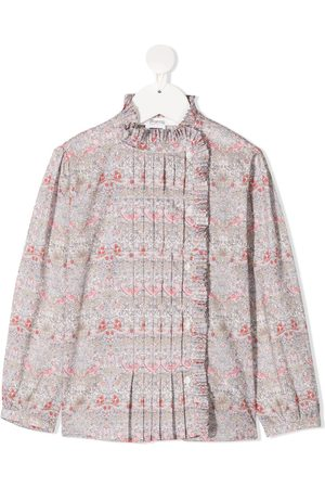 BONPOINT Floral print bib blouse