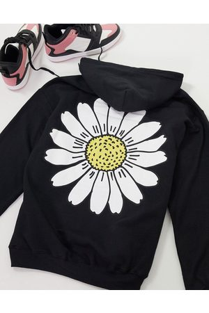 New Love Club Oversized hoodie with daisy print in