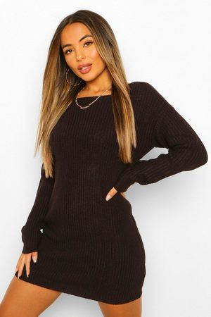 Boohoo Womens Petite Knitted V-Back Mini Dress - - 2
