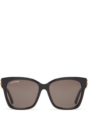 Balenciaga Bb-logo Acetate Sunglasses - Womens - Grey