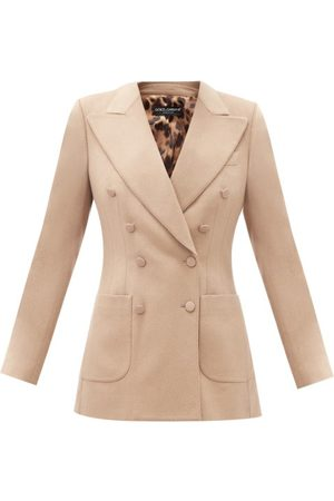 Dolce & Gabbana Double-breasted Felted-cashmere Jacket - Womens - Camel