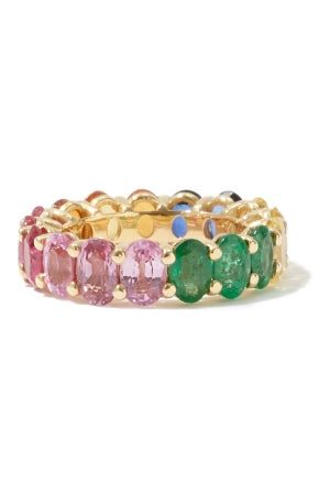 Shay Women Rings - Ruby, Sapphire, Emerald & 18kt Gold Ring - Womens - Multi