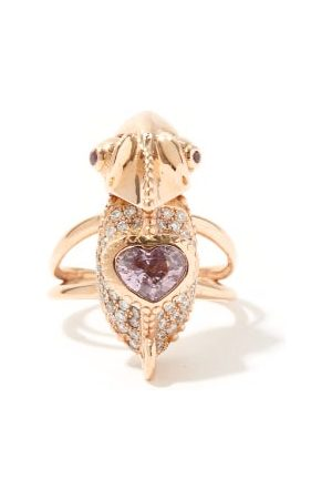 DANIELA VILLEGAS Chameleon Diamond, Sapphire & 18kt Rose-gold Ring - Womens - Multi