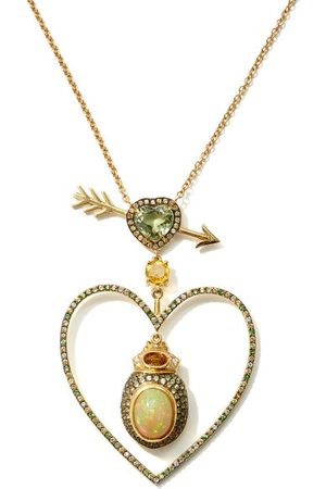 DANIELA VILLEGAS Beaming Love Diamond, Opal, 18kt Necklace - Womens