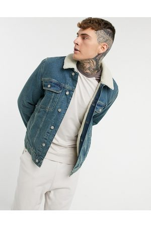 ASOS Denim jacket with teddy lining in lightwash