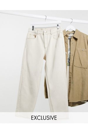 Reclaimed Vintage Inspired The '94 classic fit jeans in ecru-Cream