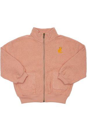 Bobo Choses Girls Sweatshirts - Zip-up Chenille Sweatshirt
