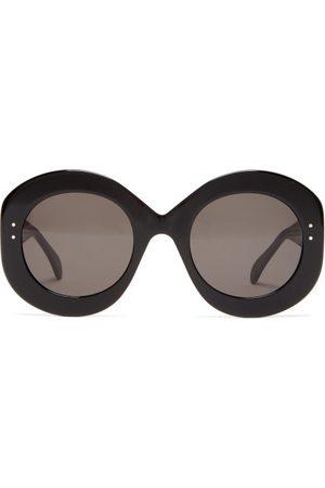 Alaïa Oversized Round Acetate Sunglasses - Womens