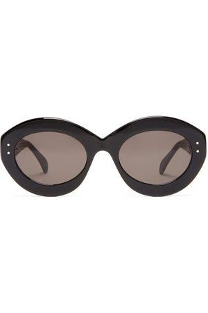 Alaïa Oval Acetate Sunglasses - Womens